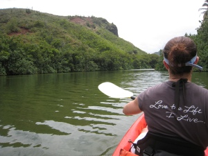 Kayaking Waimea River