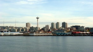 Seattle from the ferry to Bainbridge