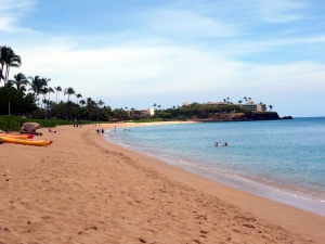 Our resort's beach on Maui