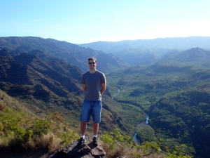 Lush valley of Waimea Canyon