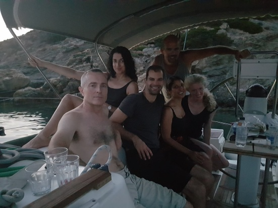 Group pic - sailing trip