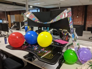 birthday desk