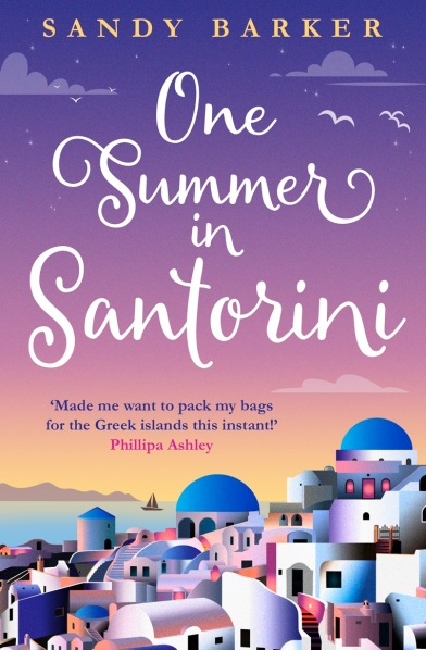 Cover of One Summer In Santorini by Sandy Barker