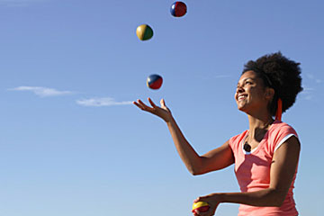 The author's jugglingact
