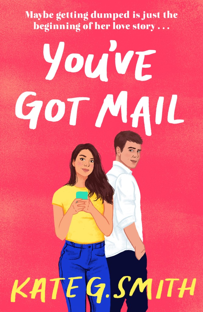 Cover of You've Got Mail, a man and a woman. The woman is holding a phone,