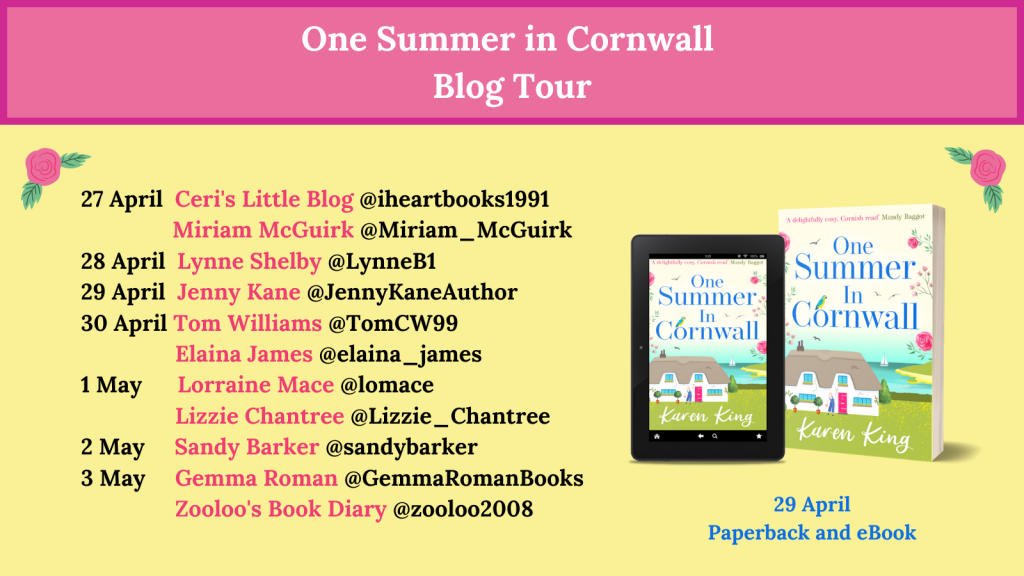 Book Blog Tour Banner Book cover and dates and names of contributors Sandy Barker May 2